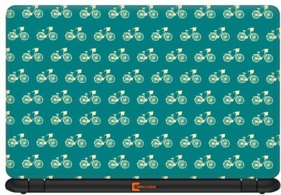 Ownclique Minimal Bicycle Pattern Vinyl Laptop Decal 15.6