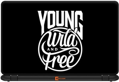 Ownclique Young Wild and Free Vinyl Laptop Decal 13.3