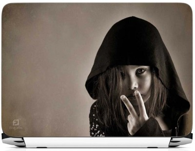 FineArts Cute Girl Shows V Vinyl Laptop Decal 15.6