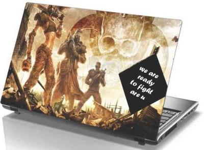 virtual prints fighter man digitally printed Laptop Decal 15