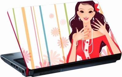 Sab Kuch Print cute girls 333 Polyester Laptop Decal 14.1