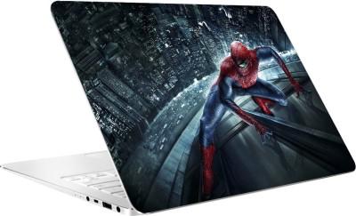 AV Styles Spiderman On Building At Night By Av Styles Vinyl Laptop Decal