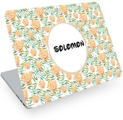 posterchacha Solomon Name Floral Design Laptop Skin Vinyl Laptop Decal 14