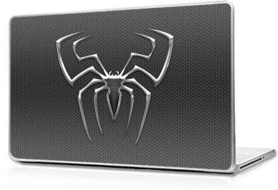 Global spiderman logo on glass Vinyl Laptop Decal