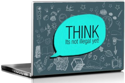 Seven Rays Think its not Illegal Vinyl Laptop Decal
