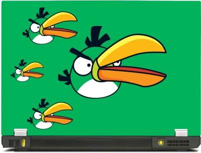 Skinkart Angry Bird Green Vinyl Laptop Decal 13.3