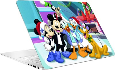AV Styles Donald And Mickey Mouse With Friends By Av Styles Vinyl Laptop Decal 15.6