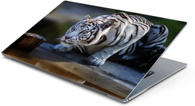 Lovely Collection white tiger Vinyl Laptop Decal 15.6