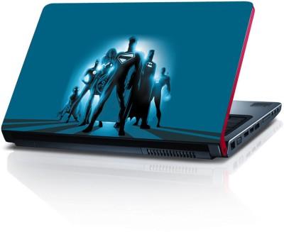 Shopkeeda Super Heros In Blue Vinyl Laptop Decal 15.6