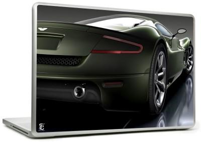 Print Shapes Lamborgini Dark Green Car Vinyl Laptop Decal 15.6
