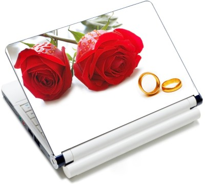 CrazyLiner Premium Red Rose and Ring Vinyl Laptop Decal 15.6