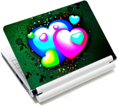 CrazyLiner Colorful Hearts Vinyl Laptop Decal 15.6