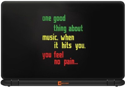 Ownclique Music Hits Vinyl Laptop Decal 14.1