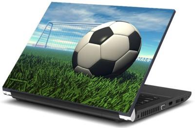 Print Shapes Football on Grass Vinyl Laptop Decal 15.6
