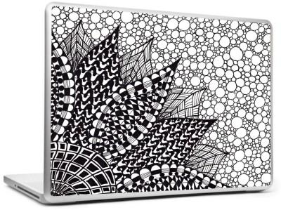 Print Shapes Abstract black flower Vinyl Laptop Decal