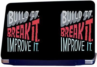 Incraze Build It & Improve it Vinyl Laptop Decal 15.6