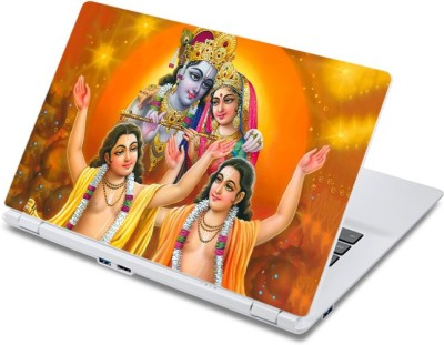 ezyPRNT Divine Radha Krishna (13 to 13.9 inch) Vinyl Laptop Decal 13