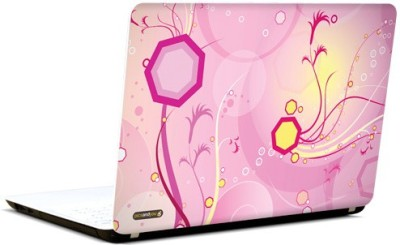 Pics And You Intricate Pattern Pink Vinyl Laptop Decal 15.6