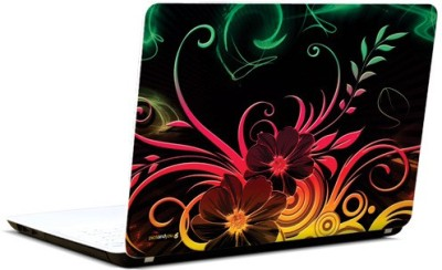 PicsAndYou Abstract Floral Pattern Vinyl Laptop Decal 15.6