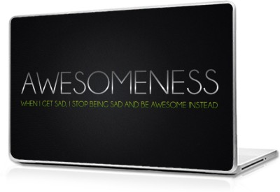 Global Motivational Quote Of Awesomeness Vinyl Laptop Decal