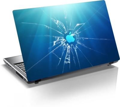 anycreation Apple with Broken Glass PVC Vinyl Laptop Decal 15