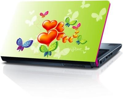 Shopmillions Beautiful Heart & Flowers Vinyl Sheet Vinyl Laptop Decal 15.6