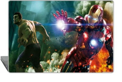 Digitek World Skin of The Avengers Hulk And Ironman High Quality 3M Vinyl Laptop Decal 15.6