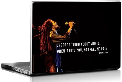 Bravado Bob Marley When Music Hits Vinyl Laptop Decal 15.6