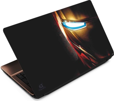 FineArts Iron Man Half Face Vinyl Laptop Decal 15.6