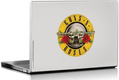 Bravado Guns N Roses Logo White Vinyl Laptop Decal