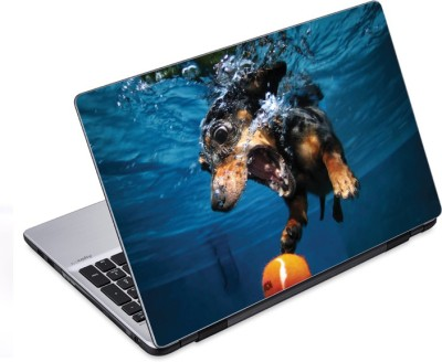 ezyPRNT Under water Sports Pet Animal (14 to 14.9 inch) Vinyl Laptop Decal 14