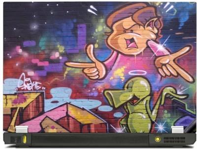 Skinkart Wall Graffiti Laptop Skin Type 34 (Screen Size 14.1 inch) Premium quality Imported Vinyl Laptop Decal 14.1