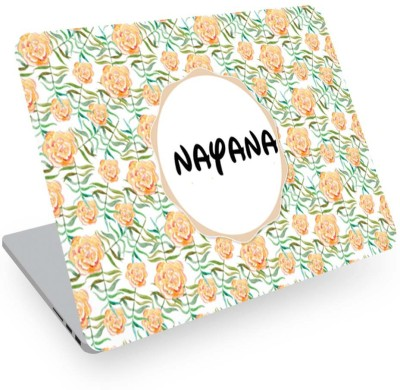 posterchacha Nayana Name Floral Design Laptop Skin Vinyl Laptop Decal 14