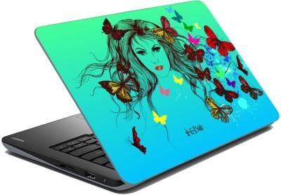 meSleep Butterfly Girl for Hetal Vinyl Laptop Decal 15.6