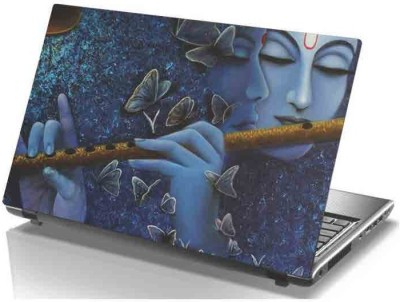 virtual prints lord krishna digitally printed Laptop Decal 15
