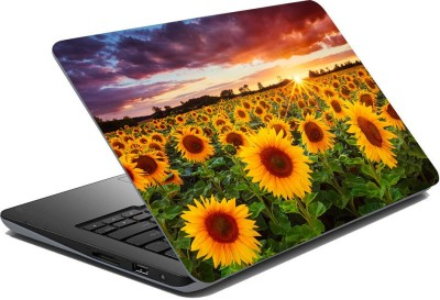 Royalina Nature Love Floral Sunflower Vinyl Laptop Decal 15.6