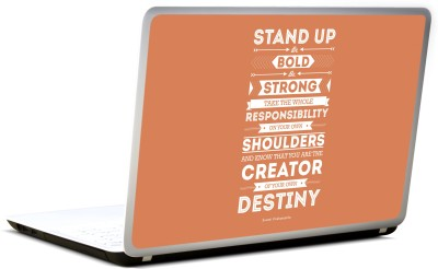 Lab No. 4 Be Bold, Be Strong Swami Vivekananda Vinyl Laptop Decal 17