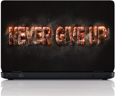 MGN 3D Never Give Up Vinyl Laptop Decal