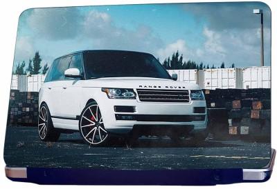 Incraze Range Rover In White Vinyl Laptop Decal 15.6