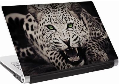 142Skin Leapord blk_wht Vinyl Laptop Decal 15.6