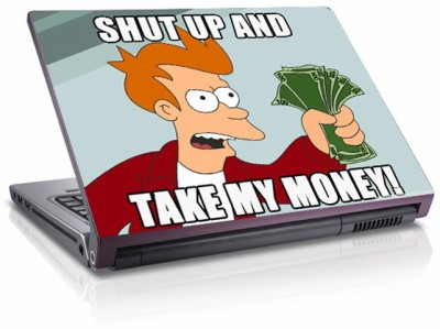 Moneysaver Shut Up And Take My Money Vinyl Laptop Decal