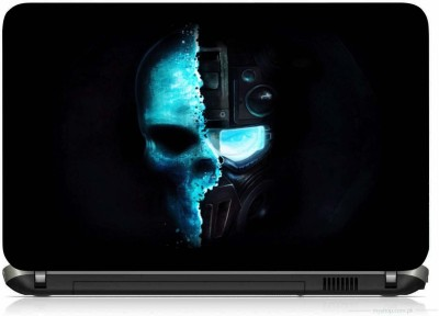 VI COLLECTIONS SOLDIERS INSIDE SKULL PRINTED VINYL Laptop Decal 15.6