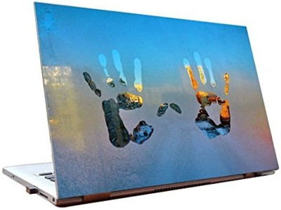 Dealmart Hands on a window - Abstract - HD Quality Vinyl Laptop Decal 15.6