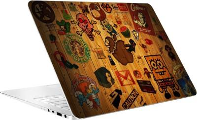 AV Styles Designs On Wooden Wall By Av Styles Vinyl Laptop Decal 15.6