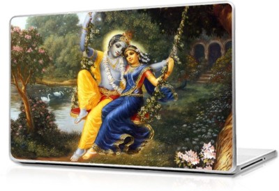 Automers Skin of Krishna and Radha Rare Painting - Reusable High Quality 3M Vinyl Laptop Decal 15.6