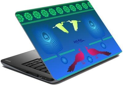 meSleep Abstract Peacock for Kesari Vinyl Laptop Decal 15.6