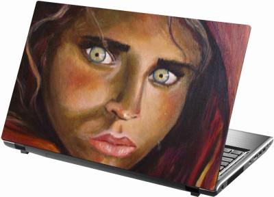 Sab Kuch Print Afgaan Woman Eyes 74 Polyester Laptop Decal 14.1