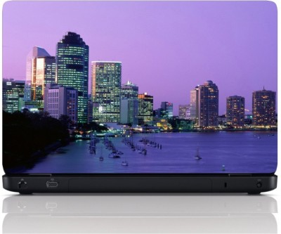 MGN City View Purple Vinyl Laptop Decal 15.6