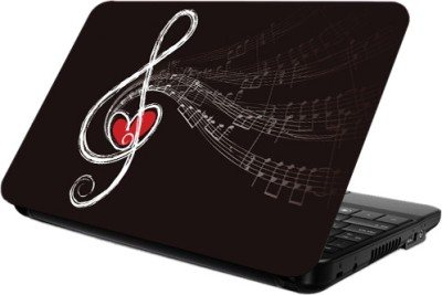 Printland Music Love Laptop Skin Vinyl Laptop Decal 14.2