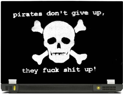 Skinkart Pirate Graphics Laptop Skin Type 35 (Screen Size 12.1 inch) Premium quality Imported Vinyl Laptop Decal 12.1